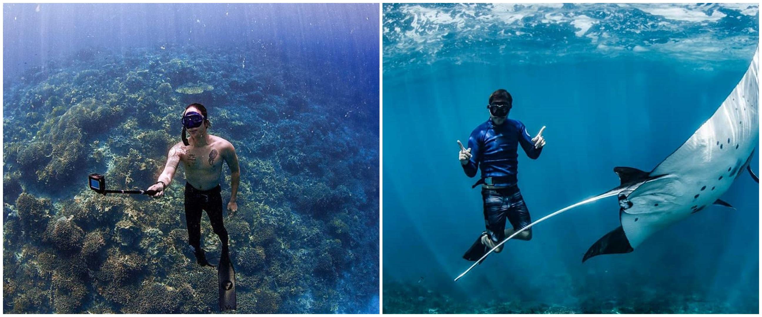 Cerita 7 seleb hobi diving, Hamish Daud menggeluti sejak kecil