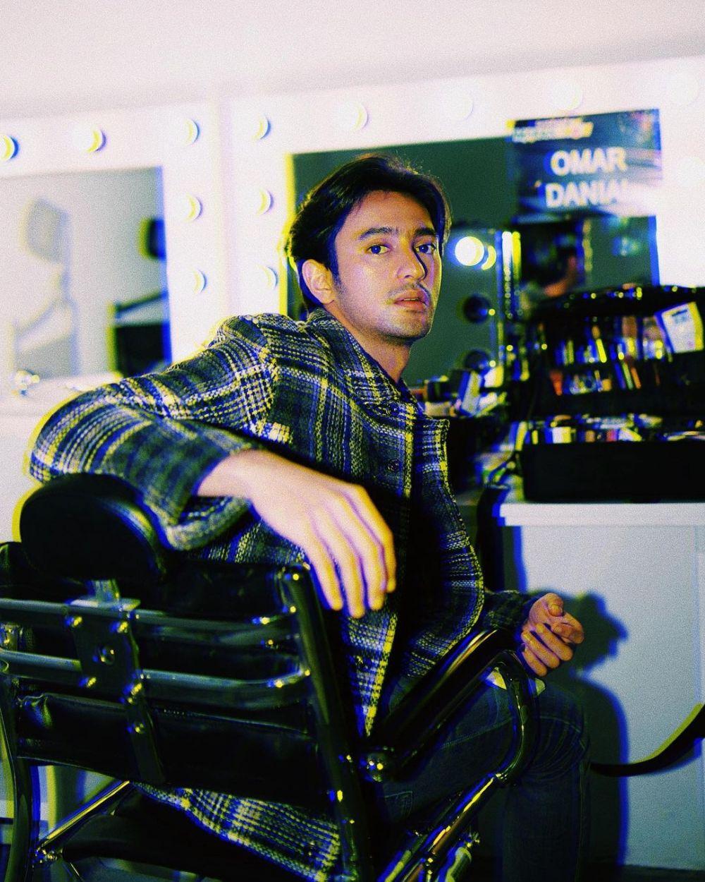 Omar Daniel dengan rambut baru © 2021 brilio.net