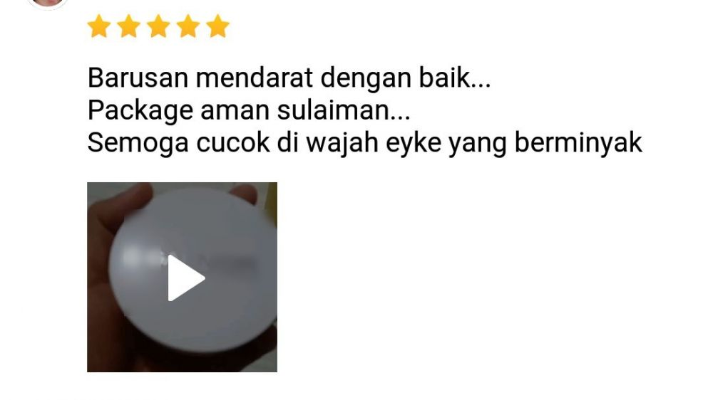 Review beli skincare di olshop © Twitter