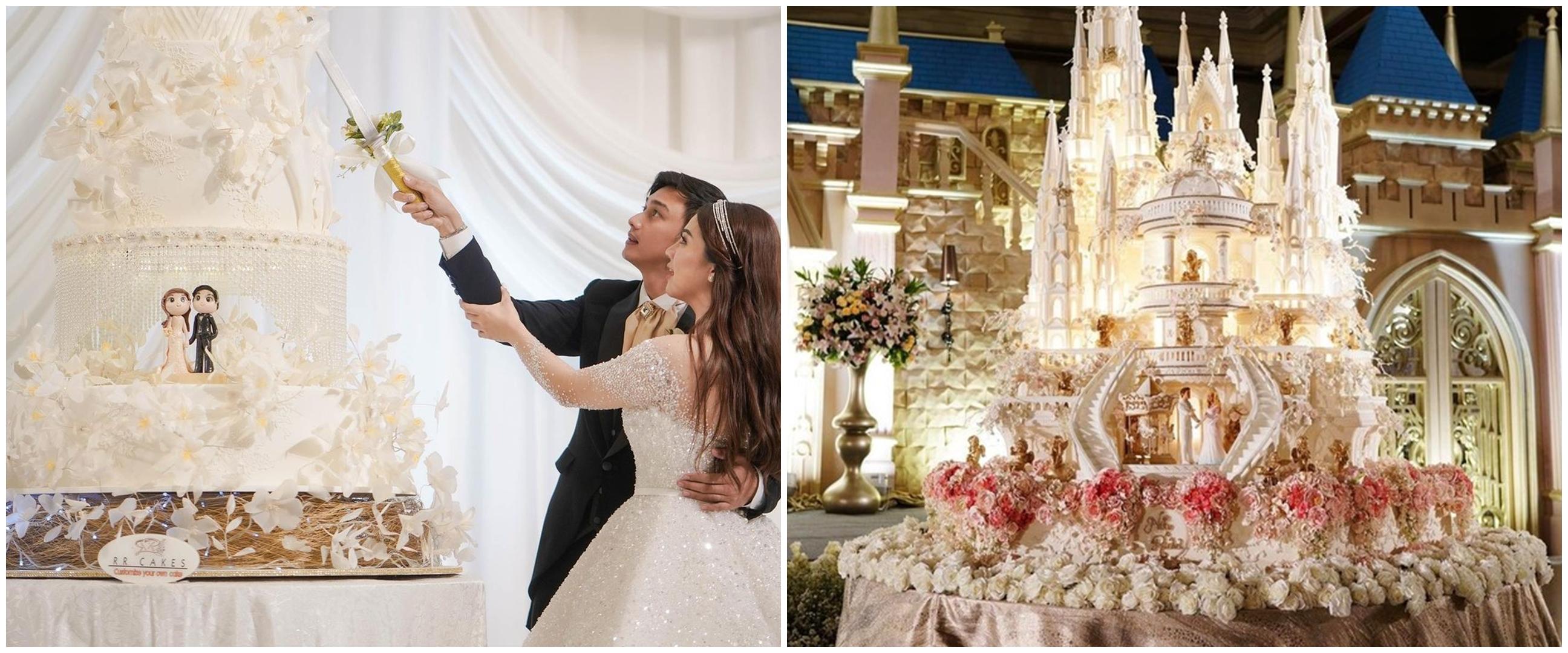 Potret kue pernikahan 10 seleb, punya Nabila Syakieb bertabur kristal
