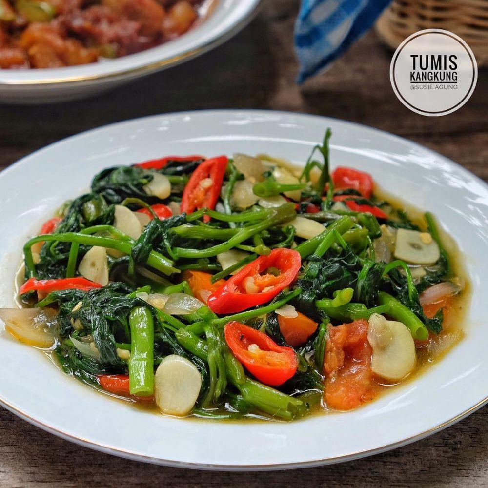 Resep kreasi tumis kangkung © Instagram