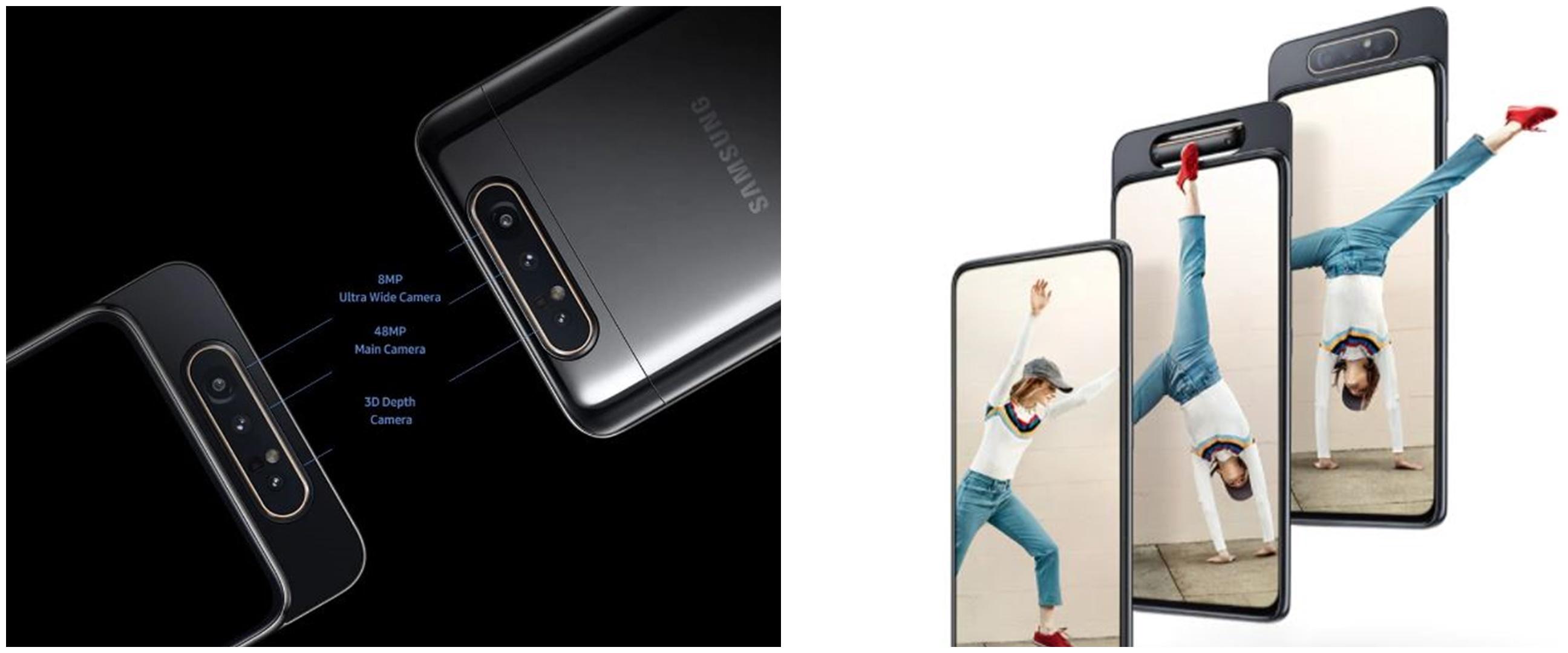 Harga HP Samsung A80 beserta spesifikasi, kelebihan, dan kekurangan