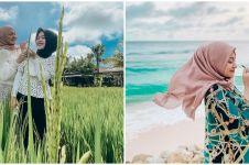 8 Potret seru Nathalie Holscher dan anak-anak Sule liburan di Bali