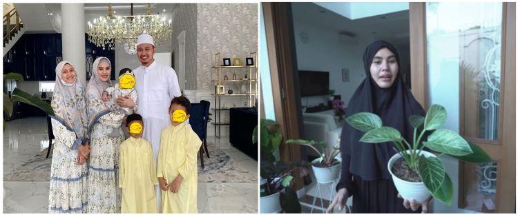 10 Potret kebun dalam rumah Kartika Putri, asri dan indah