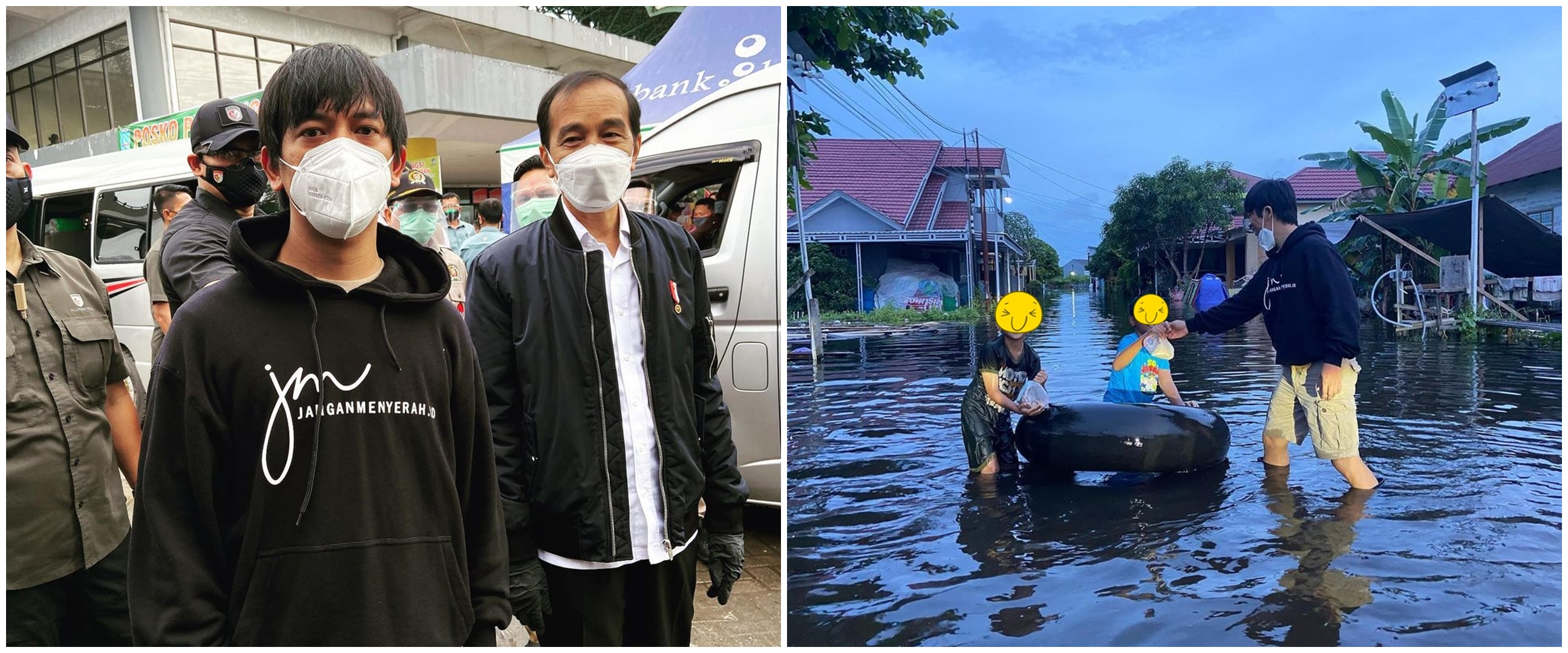 7 Aksi Rian D'Masiv bantu korban banjir di Kalsel, tuai pujian