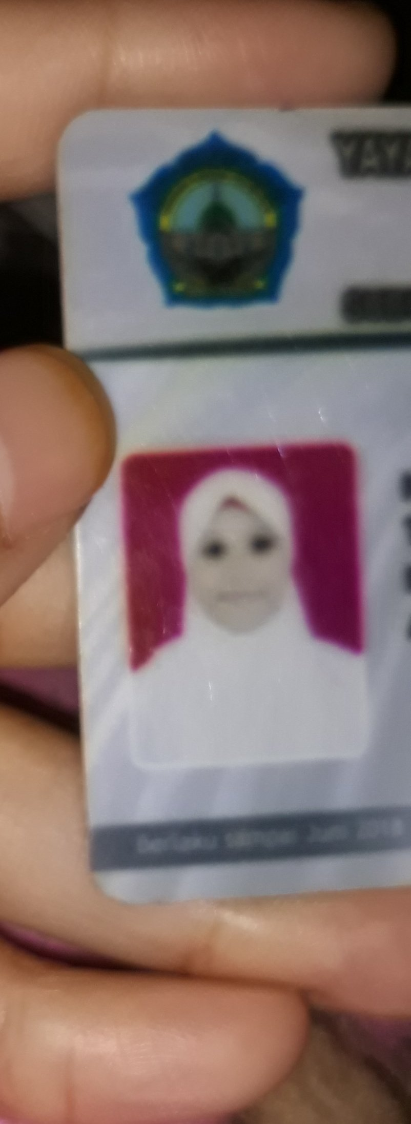 Foto pelajar di kartu identitas © berbagai sumber