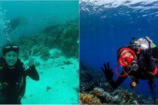Cerita 8 seleb cantik jago diving, gemar selami laut Indonesia