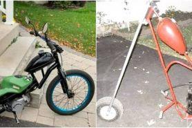 10 Modifikasi ban sepeda motor jadi kecil, bikin gagal paham