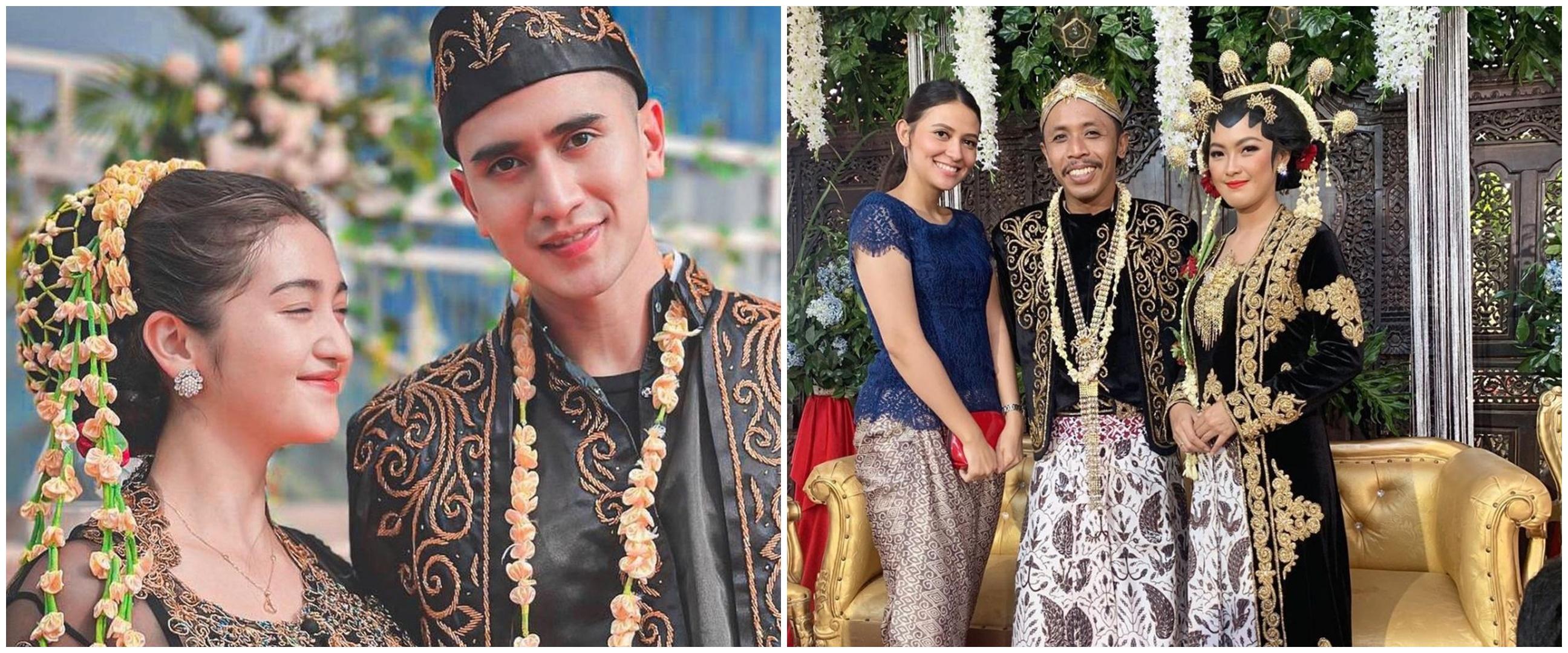 Pakai adat Jawa, intip potret pernikahan 6 pasangan seleb di sinetron