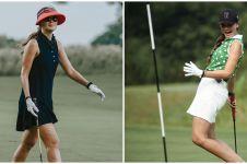 10 Gaya OOTD Luna Maya saat main golf, bak atlet profesional