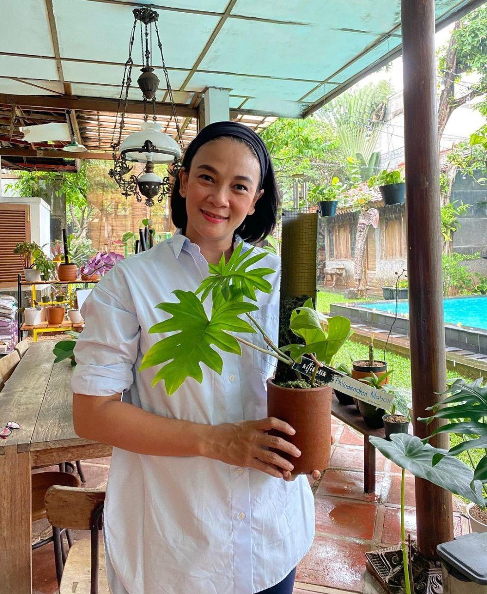 Potret koleksi tanaman Dian Nitami Instagram