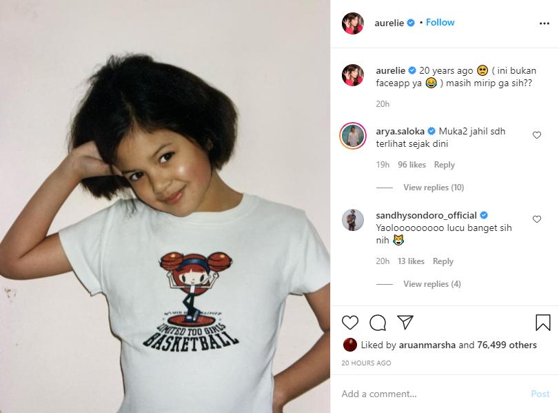 Aurelie Moeremans unggah foto masa kecil Instagram