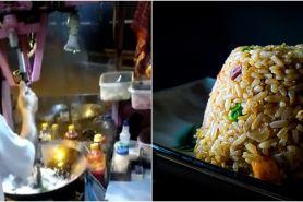 Inovasi viral tukang nasi goreng keliling, bikin tak capek mengaduk