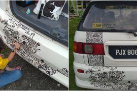 Mobilnya dicoret-coret sang anak, reaksi ayah ini tuai pujian