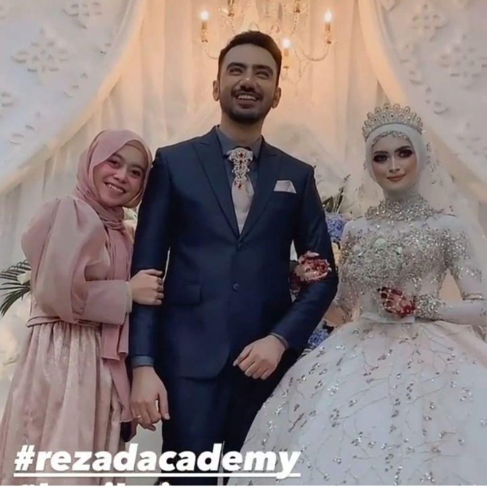 LIDA dan D'Academy di pernikahan Reza © 2021 brilio.net
