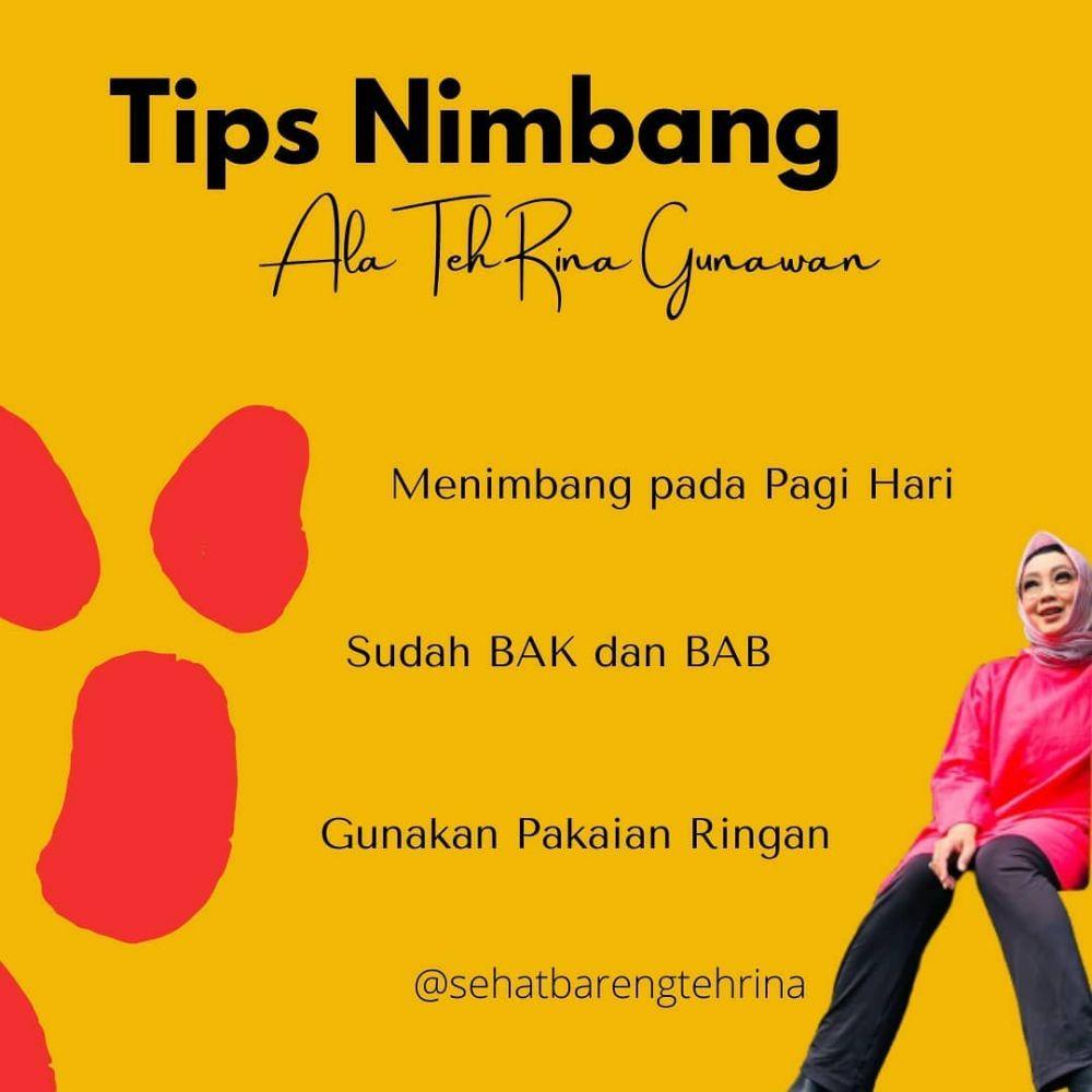 tips diet Rina gunawan © Instagram