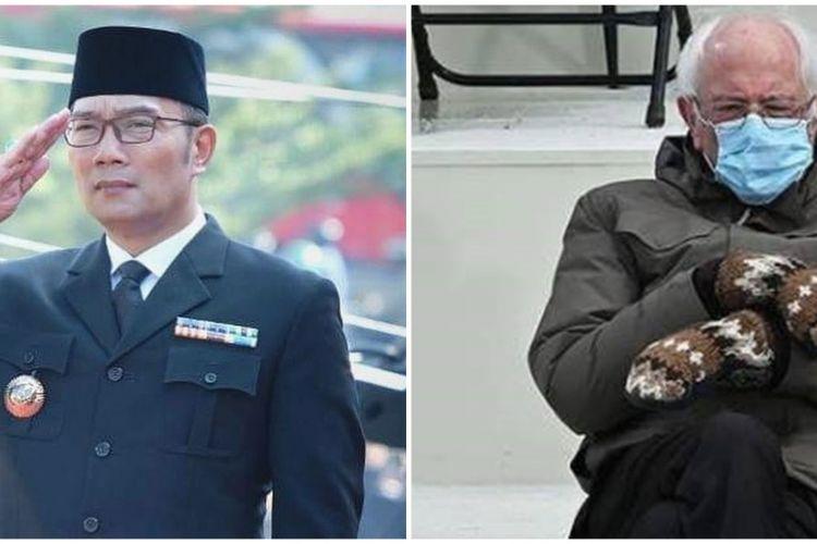 Ikut Tren Meme Bernie Sanders Aksi Ridwan Kamil Bikin Ngakak