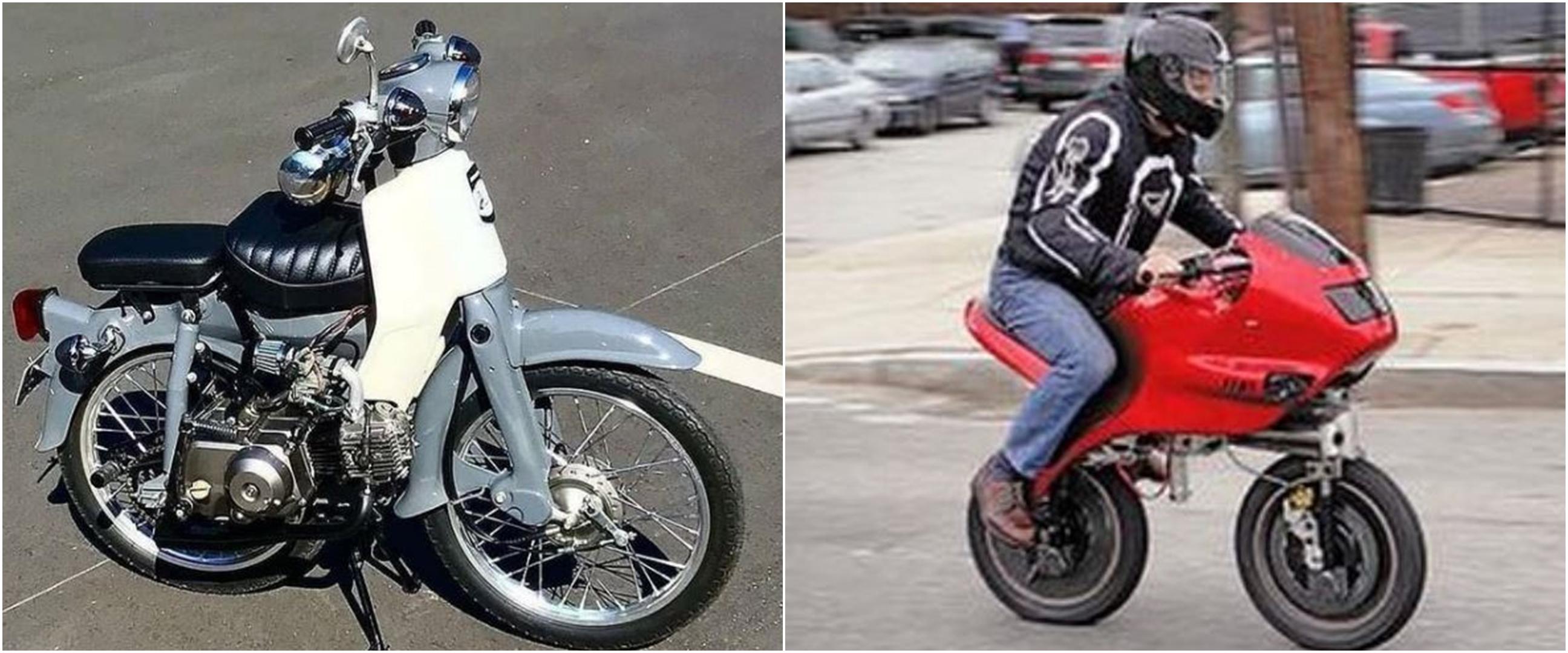 10 Modifikasi motor menjadi pendek ini bikin gagal paham