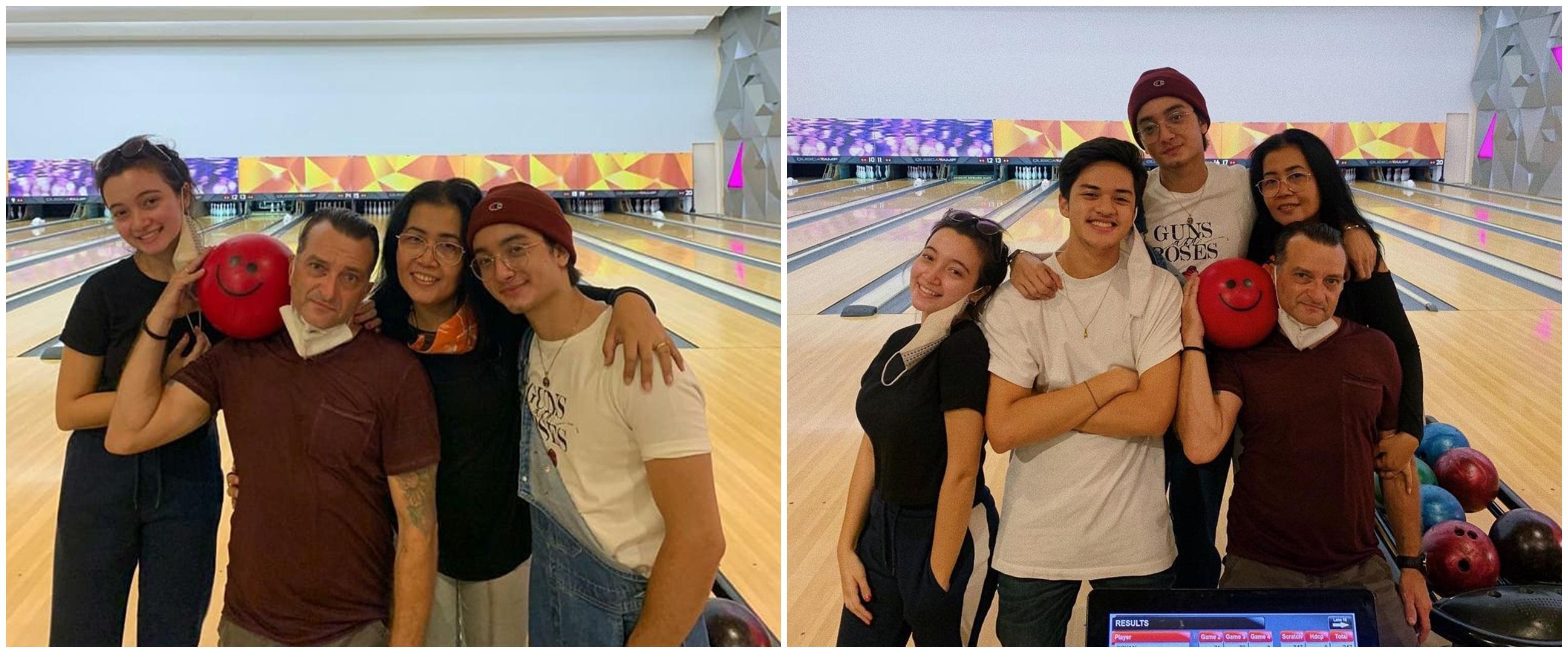 9 Momen keluarga Megan Domani main bowling, ajak Jeremie Moeremans