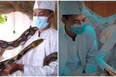 Viral pernikahan dengan mahar ular piton, sempat ditolak keluarga