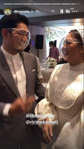 momen haru pernikahan ibnu jamil berasama ririn Instagram