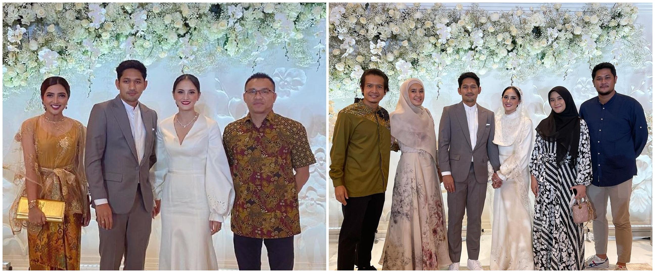 8 Momen seleb hadiri pernikahan Ibnu Jamil dan Ririn Ekawati