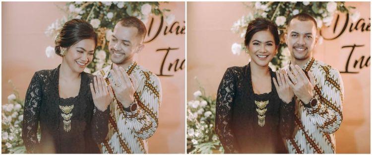 10 Momen pertunangan Indah Indriana dan Diaz Adritya Putra