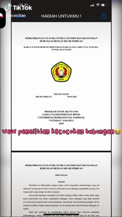 pria beri hadiah riset penelitian kecocokan TikTok© 2021 brilio.net