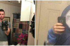 20 Potret orang mirror selfie ini bikin lihat dua kali