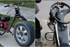 20 Modifikasi motor gunakan sparepart mobil, bikin mikir dua kali