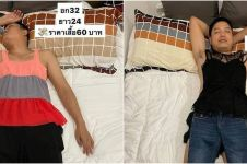 Viral wanita 'sulap' suami tidur lelap jadi model baju dagangan