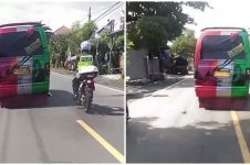 Viral polisi di Probolinggo diserempet mobil hingga jatuh