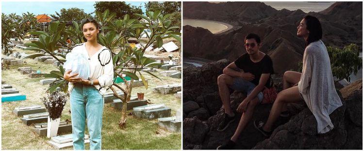 Ziarah ke makam Marco Panari, ini ungkapan terenyuh Angela Gilsha