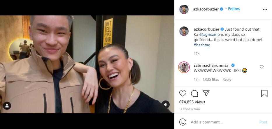 Azka Corbuzier ketemu Agnez Mo Instagram