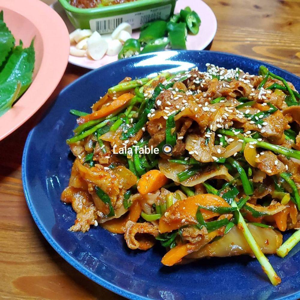 Resep kreasi sayur dan daging © Instagram