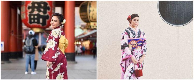 Pesona 10 penyanyi ketika memakai kimono, Syahrini tampil stunning