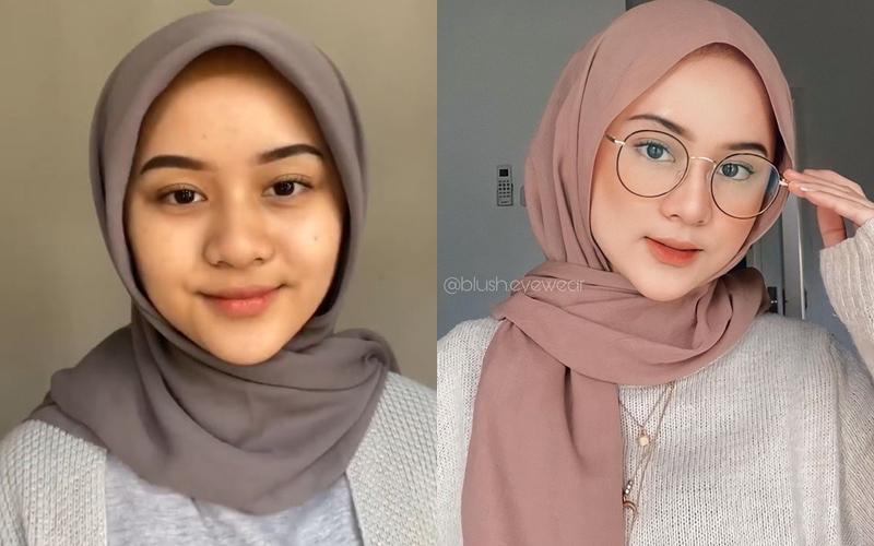 TikTok tanpa & pakai makeup © Instagram