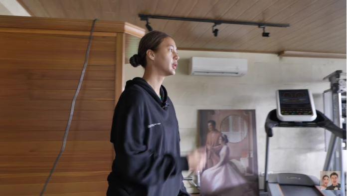 ruang gym Baim Wong dan Paula © YouTube