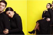 7 Maternity shoot Audi Marissa & Anthony Xie bertema couple in black