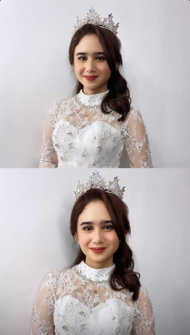 Tissa Biani dan Dul pakai baju pengantin © Instagram