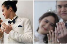 Pakai baju pengantin, 6 potret Tissa Biani dan Dul Jaelani bikin heboh