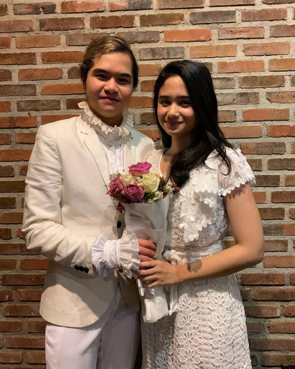 Tissa Biani kenakan busana pengantin © Instagram