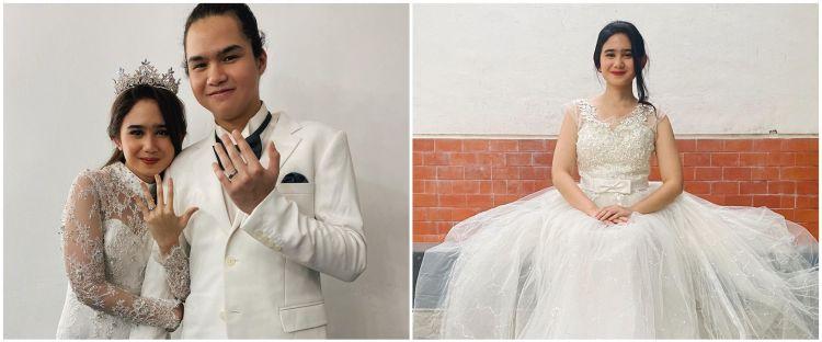 10 Pesona Tissa Biani kenakan baju pengantin, auranya terpancar
