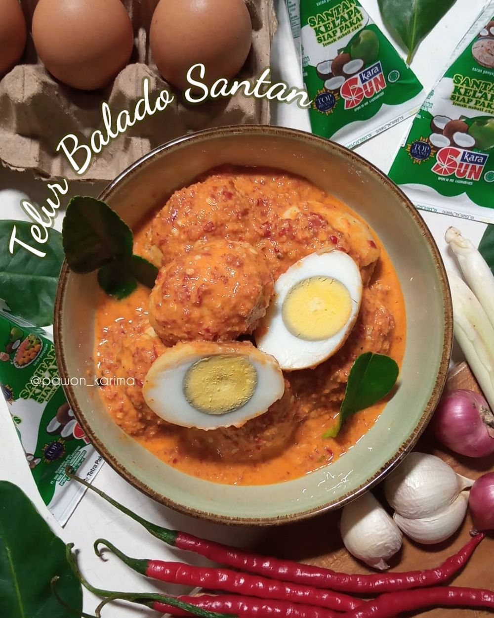 resep telur balado © Instagram