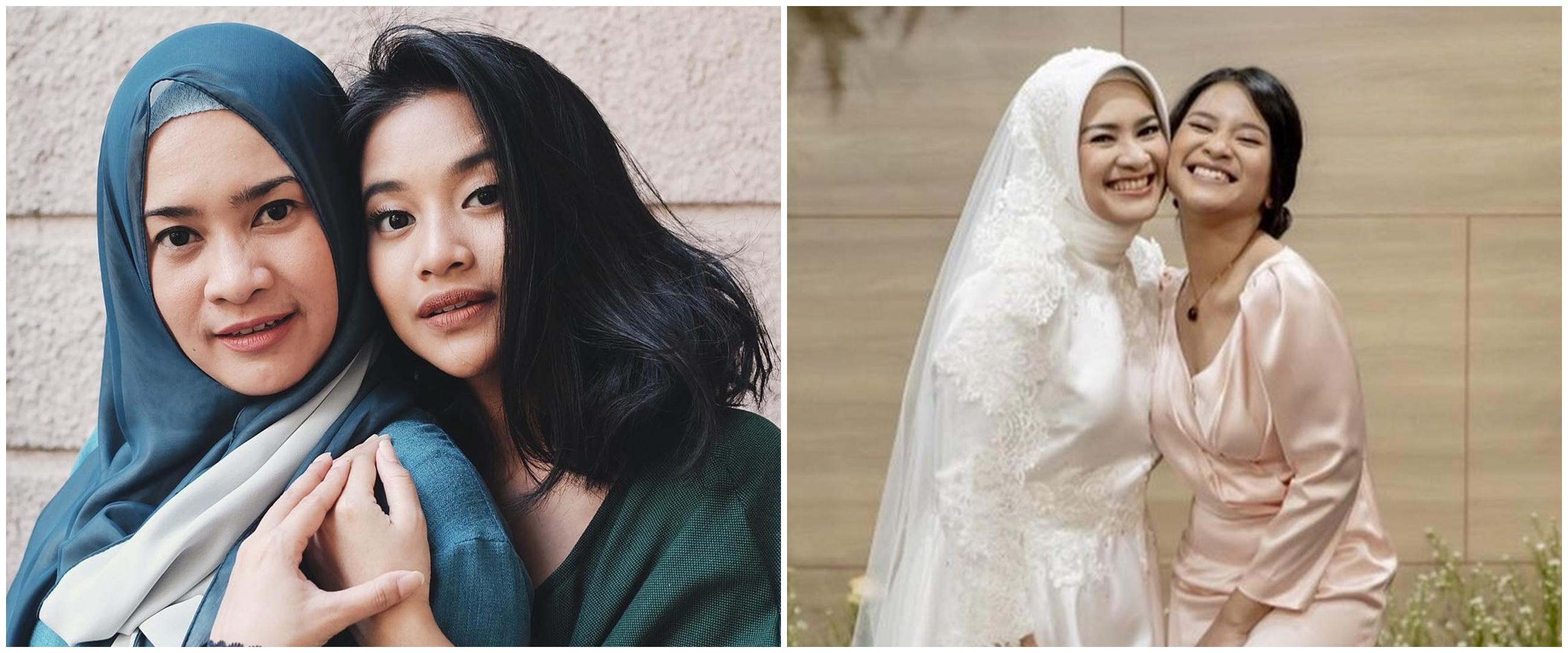 6 Pesona Siti Adira di pernikahan Ikke Nurjanah, curi perhatian