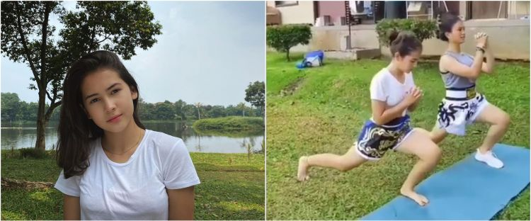 6 Momen Sandrinna Michelle latihan muay thai, keren abis