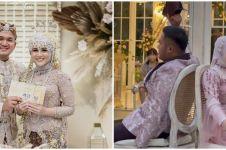 10 Potret resepsi pernikahan Kesha Ratuliu dan Adhi Permana, meriah