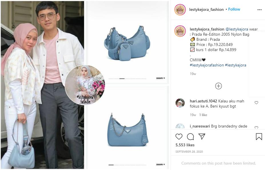 koleksi tas Lesti Kejora Instagram