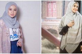 10 Potret terbaru Laudya Cynthia Bella dengan hijab syar'i
