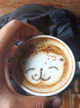 bikin latte art langsung di mulut Berbagai sumber